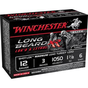"WINCHESTER LONG BEARD XR 12GA 3"" 1.7 / 8 #6"
